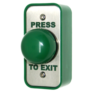 Architrave Green Dome Button - Press To Exit