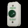 Architrave White Box Green Dome Button - Press To Exit
