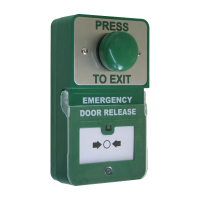 Emergency Door Release Combined with Green Dome Button - Press To Exit