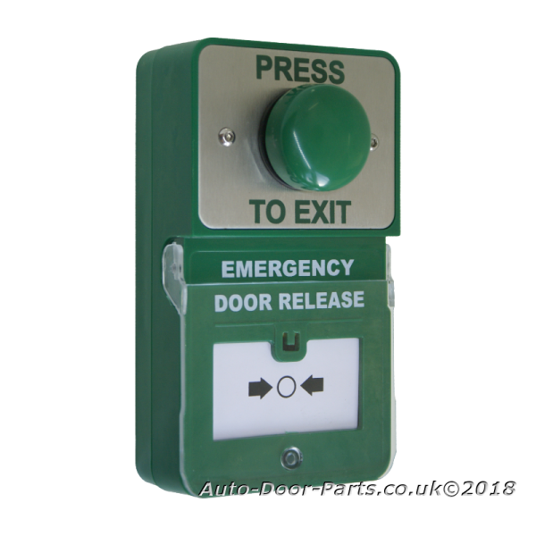 Emergency Door Release Combined With Green Dome Button