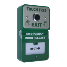 Emergency Door Release Combined with Touch Free Stainless Steel Button