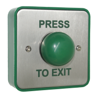 Standard Green Dome Button Without Collar - Press To Exit