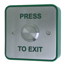 Standard Stainless Steel Button - Press To Exit
