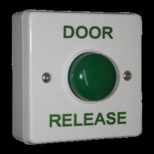 Standard White Box Green Dome Button - Door Release