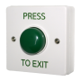 Standard White Box Green Dome Button - Press To Exit