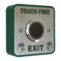Touch Free Stainless Steel Button